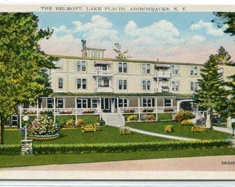 The Belmont Lake Placid Adirondacks Mountains New York 1920s postcard