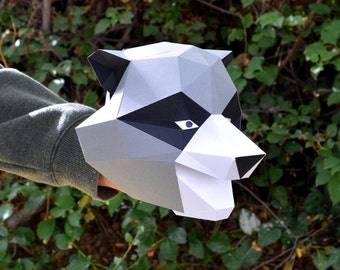 Make a Paper Raccoon Hand Puppet with Wiggling Ears! | Animal Puppet | Kids Craft Project