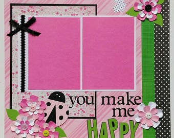 Scrapbooks premade pages 12x12 - Ohioscrapper - 12x12 premade scrapbook pages - 12x12 Scrapbook layouts - Premade scrapbook layouts