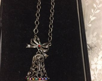 Stunning Christmas  Bell Necklace by Beatrix