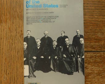Constitution of the United States Case Book  1979 Summaries Articles and Amendments Jurisdiction of Supreme Court Virginia Bill of Rights