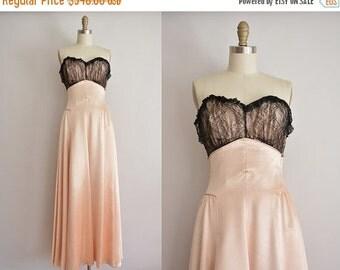 25% off SHOP SALE... vintage 1950s dress / designer pink satin party dress / 50s ball gown