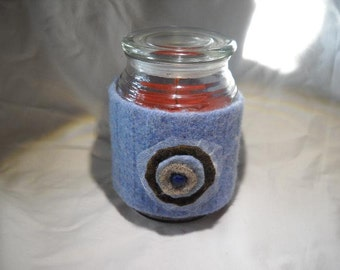 Felted Wool Candle cozy cover