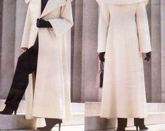 SZ 6/8/10 - Vogue Coat Pattern 2204 by MONTANA - Misses' Ankle Length, Open Front, Cape Collar Coat - Vogue Paris Original