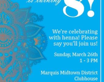Henna Party Invitations