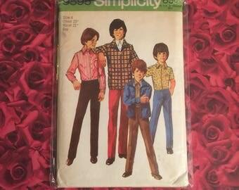 70's Vintage Boys Simplicity Pattern