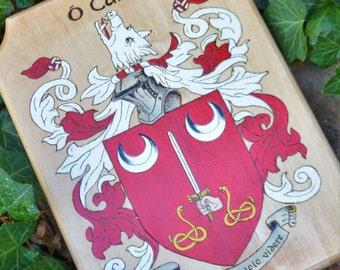 Anniversary  Family Crest Wood Burned