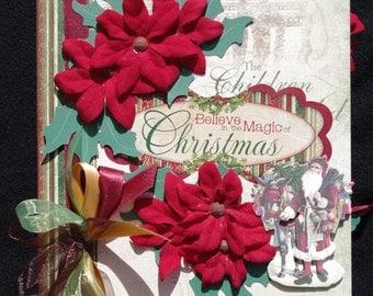 Victorian Family Christmas Premade Binder Scrapbook Album Just add photos