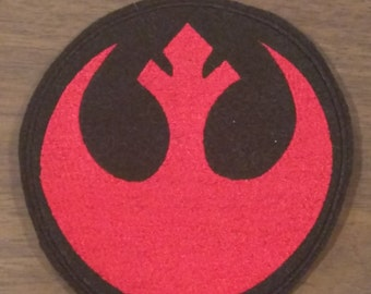 Rebel alliance star wars inspired iron on embroidered patch