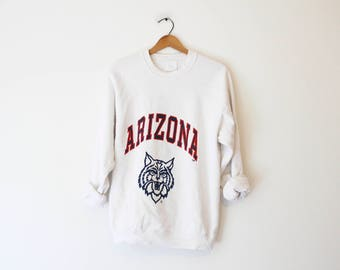 Vintage White University of Arizona Wildcats Sweatshirt
