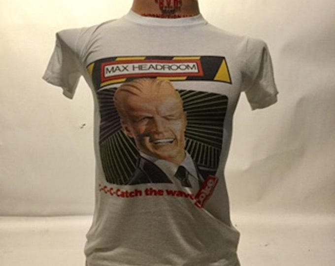 Vintage Max Headroom Coke Advertisement Tee 80's (os-ts-72)