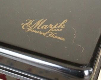 Vintage Metel H Marik Sons Funeral Home Lockbox