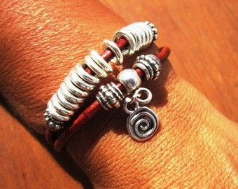 bohemian bracelet, boho jewelry, friendship bracelets, sterling silver, leather bracelet, womens bracelets, beaded Bracelets, womens jewelry