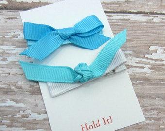 Blue Bow Hair Clip, Girl Hair Clip, Bow Hair Clip, Womens Hair Clip, Baby Bow Hair Clip, Toddler Bow Hair Clip, Hair Clip, Set of 2