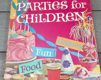 Betty Crocker Parties For Children 1960s Cookbook Spiral Bound Damaged Pictures For Framing Scrapbooking Crafts