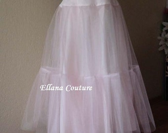 Full Length Petticoat. Little Fullness Crinoline. Available in several colors.