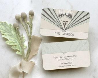 Art Deco Business Cards, Calling Cards, Business Card, Art Deco Business Cards, Personal Business Cards, Logo Design, Art Deco Stationery