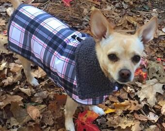 Waterproof, insulated, breathable snowboard plaid, Sherpa Lined  Dog Winter Jacket, Dog Coat, Dog Jackets, Dog Jacket
