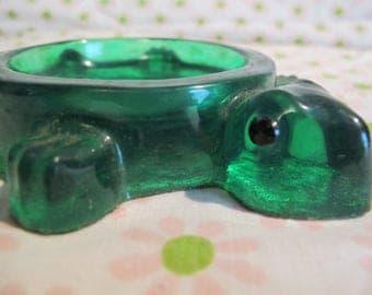 vintage retro Resin TURTLE COASTER!  SOAP DiSH spoon rest TidBit trinket Sea Turtle snapper