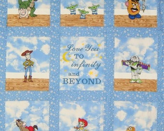 Custom Embroidered Toy Story Baby Quilt / Blanket -  Personalized with Name - choose your fabrics - Payment Plan available