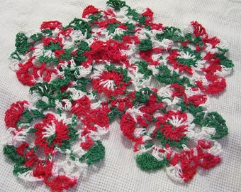 6 Merry Christmas crocheted coasters/doilies