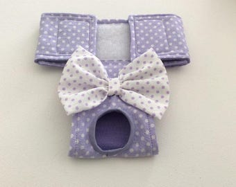 Female Dog Diaper - Britches - Dog Panty / Panties-Lavender and White Polka Dots - Available in all Sizes