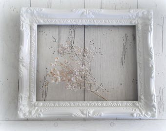 White Frame Ornate Open Frame Large Gallery Wall Decor Shabby Cottage Chic Style
