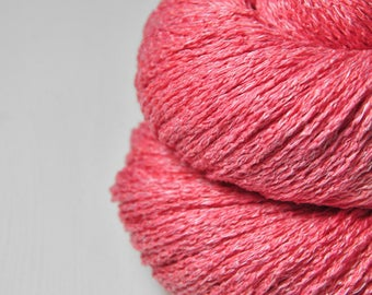 Artificial rose coral  - Silk/Linen Fingering Yarn - LSOH