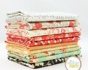 "Chestnut Street - Fat Quarter  Bundle - 10 - 18""x21"" Cuts - Fig Tree - Moda Quilt Fabric"