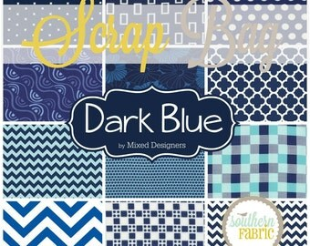 Dark Navy Blue -  Scrap Bag Scraps-- Scrap Bag Quilt Fabric