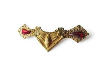 SALE-Antique Art Deco Egyptian Revival Scarab Brooch c.1920