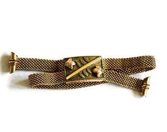Antique Victorian Adjustable Mesh Slide Bracelet c.1880s