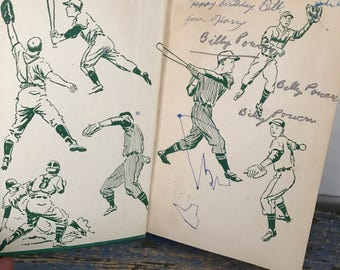 Vintage Hard Cover Baseball Book, 1950s Baseball Book, Children's Sports Book, Mel Martin Book, The College League Mystery