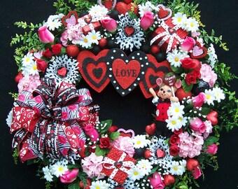 Valentine Wreath  STUCK ON YOU