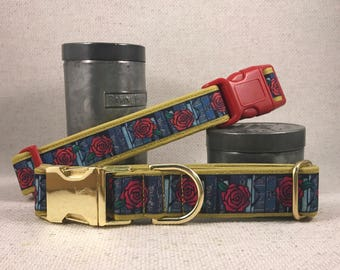 Belle's Bookshelf Fairytale Booklover Red Roses Dog Collars