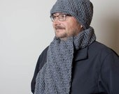 Crochet Beanie And Scarf Set for Men, Crochet Hat Scarf Set, Men's Winter Accessories