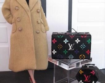 BLACK  LUGGAGE for Silkstone Barbie, Poppy Parker, Victoire Roux, Blythe, Momoko - Fake-Faux replica Louis Vuitton