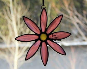 Stained Glass Flower Suncatcher Purple