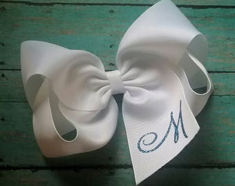 Monogram 6 or 8 Inch Twisted Boutique Bow You Customize