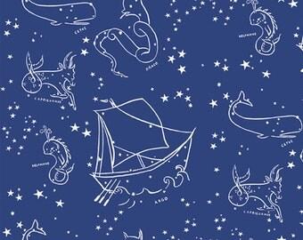 Organic KNIT Fabric - Birch Saltwater Knits - Stars of the Sea Knit