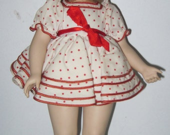 Vintage Porcelain Shirley Temple doll