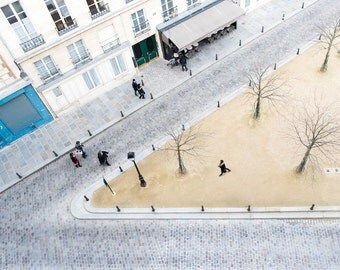 Wintertime on the Place Dauphine in Paris - Winter, Cool Toned, Parisian Fine Art Photography Print