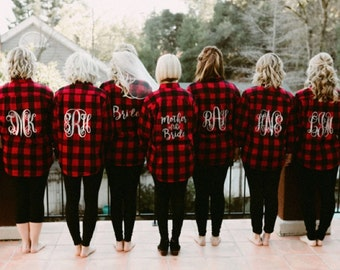Bridal Party Flannel Shirt - Bride/Wedding/Bridal party