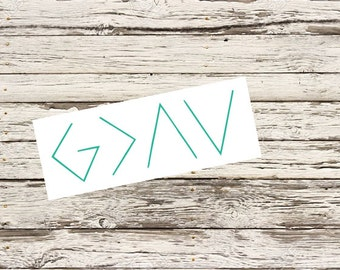 God is greater than the highs and lows decal/ Tumbler decal/ car decal/ laptop
