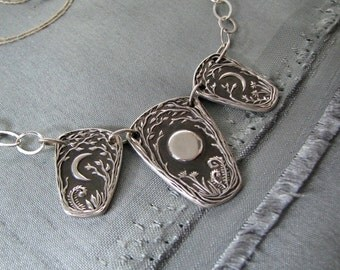 Wayfarer Necklace, Handmade with Recycled Silver and Sterling Silver, Original Design by SilverWishes