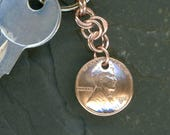 1952 Penny Keychain 66th Birthday Gift Coin 1952 Penny