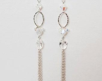 0051-Swarovski Crystal Drops in sterling-silver