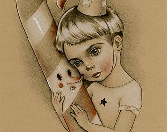 This Love. Original Artwork. Popsurrealism illustration Raul Guerra