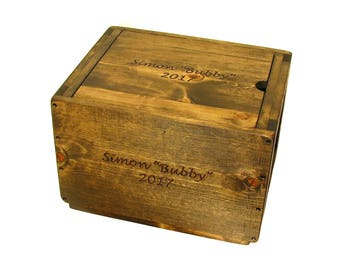 Wooden Box with Lid, Lidded Wood Crate, Pet Memorial Box, Hope Chest, Keepsake Box, Memory Box, Wood Storage Box with Lid, Lidded Wooden Bin