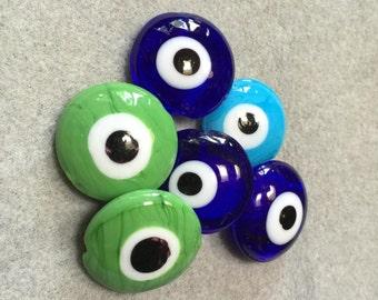 Evil Eye Beads - Jumbo Size - Set of 6